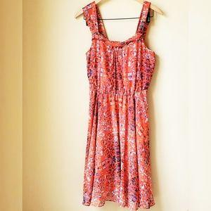 RACHEL ROY Coral Polka Dot Dress Size M